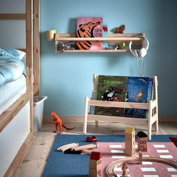 boekenrek babykamer ikea flisat boekenkastje