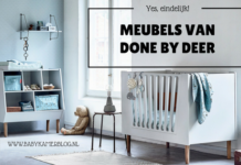 Done by Deer meubels babybed commode wandplank