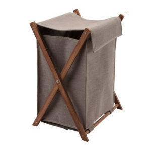 robuuste wasmand hout met stof babykamer