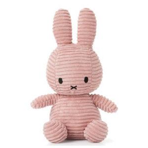 nijntje knuffel cordury roze babykamer kraamcadeau