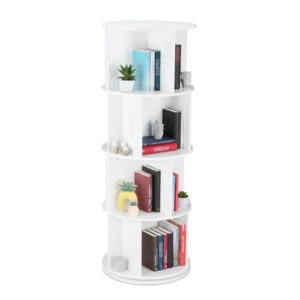 rond boekenkastje draaibaar kinderkamer wit